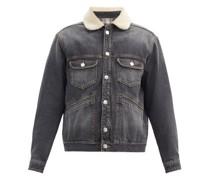 Jareden Faux Shearling-collar Denim Jacket