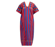 No.132 Embroidered Striped Cotton Kaftan