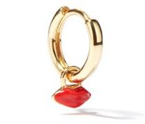 Lips-charm 14kt Gold Single Hoop Earring