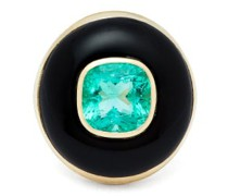 Lollipop 14kt Gold, Onyx & Emerald Ring
