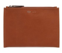 Flat Small Leather Pouch