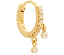 Diamond Eternity 18kt Gold Single Hoop Earring