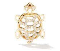 Tortoise Diamond & 9kt Gold Single Earring