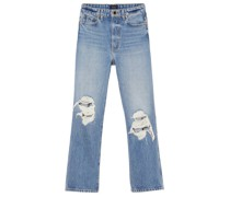 Abigail Distressed Cropped Straight-leg Jeans