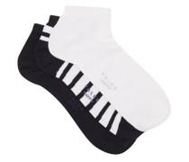 Pack Of Three Happy Cotton-blend Socks