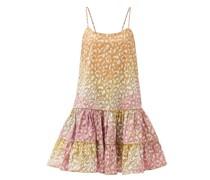 Tie-dyed Snow Leopard-print Cotton Dress