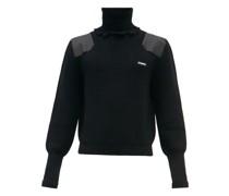 Distressed Ribbed Merino Wool-blend Sweater