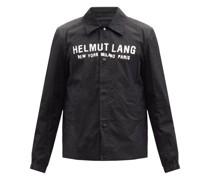 Logo-print Harness-strap Shell Coach Jacket