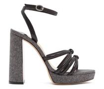 Freya Suede And Glitter Platform Sandals
