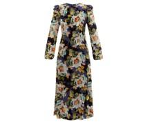 Floral-print Silk-blend Devoré-velvet Gown