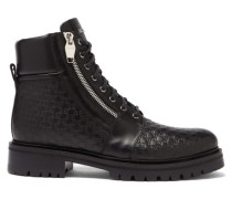 Monogram-debossed Leather Ranger Boots