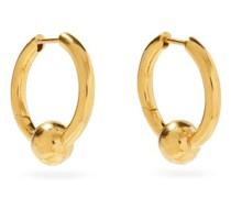 Beaded Gold-vermeil Hoop Earrings