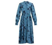 Alicia Floral-print Silk Crepe De Chine Midi Dress