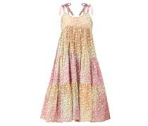 Snow-leopard Tie-dye Tiered Cotton Dress