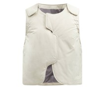 Converge Padded Cotton-blend Shell Gilet