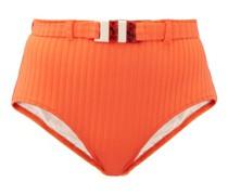 The Ginger High-rise Ribbed Bikini Briefs