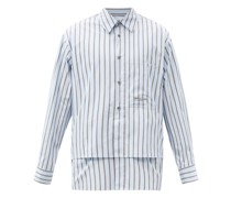 Layered Striped Cotton-poplin Shirt