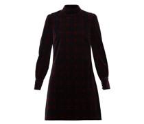 Tartan Cotton-velvet Mini Dress