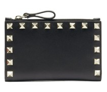 Rockstud Leather Card And Coin Purse