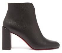 Castarika 85 Block-heel Leather Ankle Boots