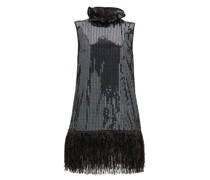 Fringed Sequinned Mini Dress