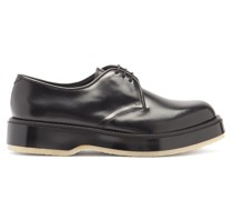 Crepe-sole Leather Derby Shoes