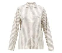 Striped Organic-cotton Pyjama Top