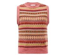 Lennon Fair Isle Wool Sleeveless Sweater