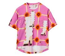 Boxy Wallpaper-print Cotton-jersey T-shirt