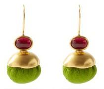 Candy Ball Silk & 18kt Gold-plated Earrings