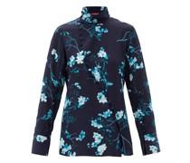 Marjorie Floral-print Silk Top