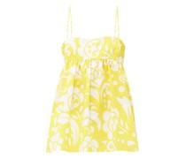 Empire-waist Hippy Floral-print Cotton Cami Top