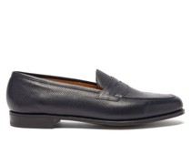 Duke Grained-leather Penny Loafers