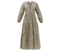 The Long Sleeve Button Organic-cotton Maxi Dress