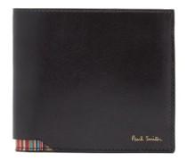 Signature Stripe Leather Bi-fold Wallet