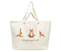 Yoga Fox-print Cotton-canvas Tote Bag