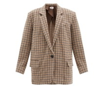 Kaito Single-breasted Houndstooth Wool Blazer