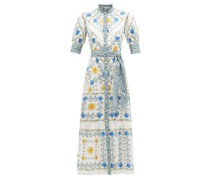 Marni High-neck Floral-print Maxi Dress