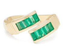 Wrap Emerald & 14kt Gold Ring