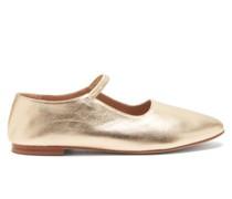 Glove Metallic-leather Mary Jane Flats