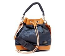 String Leather-trim Bucket Bag