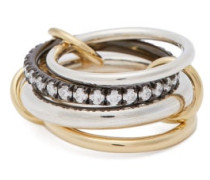 Janssen Diamond, Sterling-silver & 18kt Gold Ring