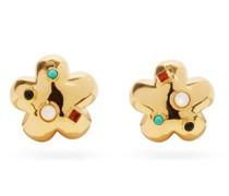 Daisy Gold-plated Clip Earrings