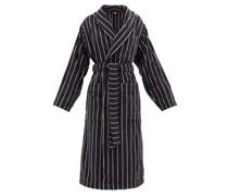 Striped Cotton-terry Bathrobe