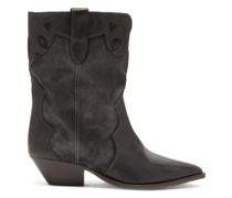 Duoni Leather And Suede Western Ankle Boots