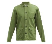 Hockney Patch-pocket Linen-blend Chore Jacket