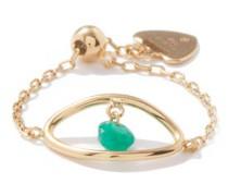 Evil Eye Emerald & 18kt Gold Ring