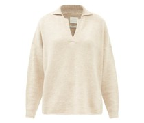 Collared Merino Wool-blend Sweater