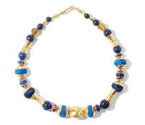Shooting Stars Silk & 18kt Gold-plated Necklace