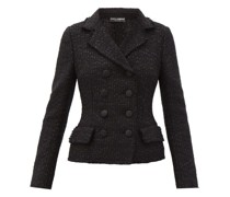 Bouclé-tweed Double-breasted Jacket